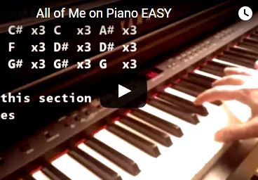 All of Me Piano Tutorial