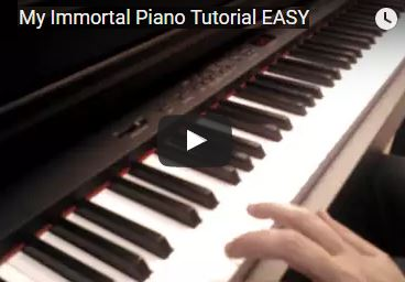 My Immortal Piano Tutorial